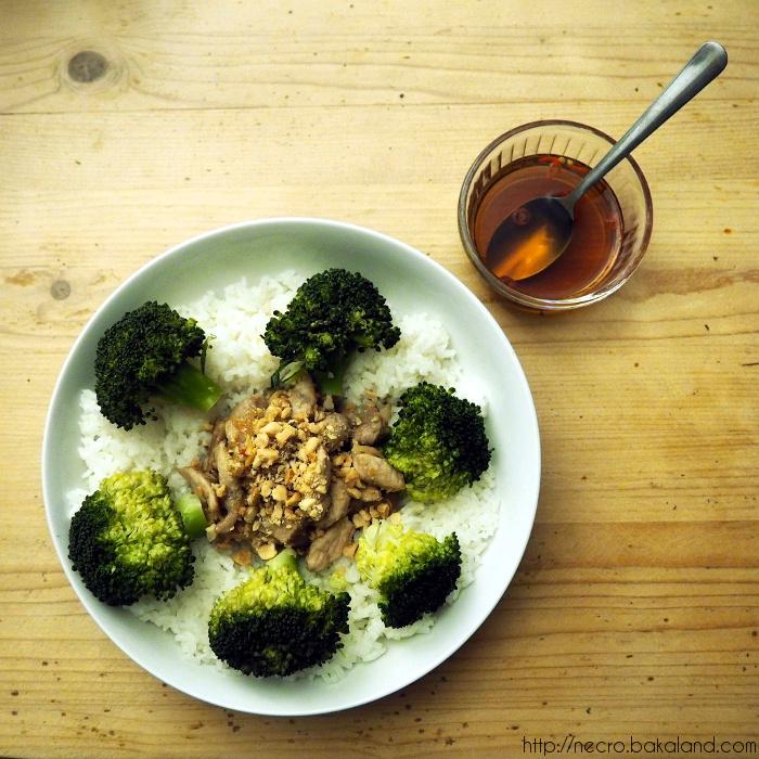 porc thai au brocoli et sa sauce nuoc mam